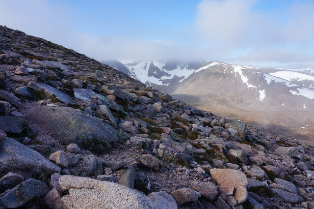 View West from Fiacaill a` Choire Chais