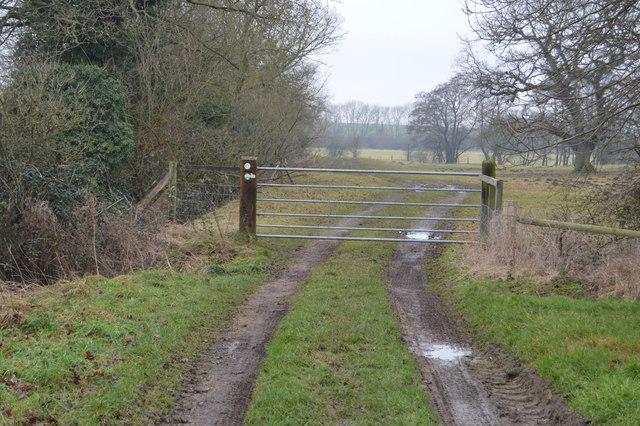 Gate across footpath