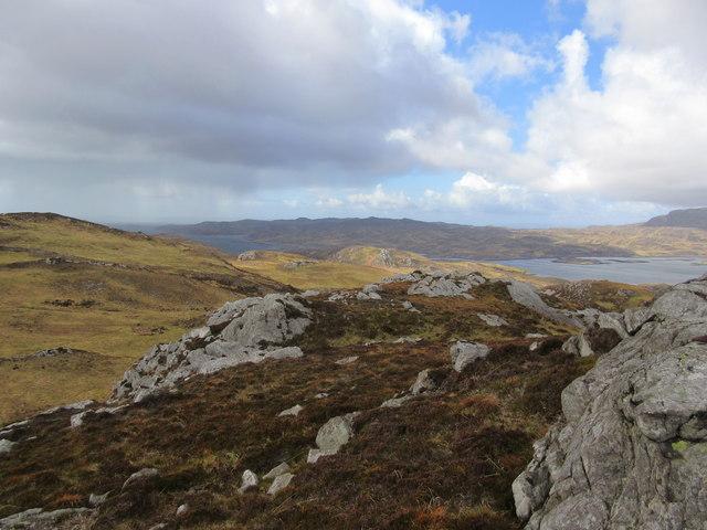 Hilly terrain south of Loch Tarbet