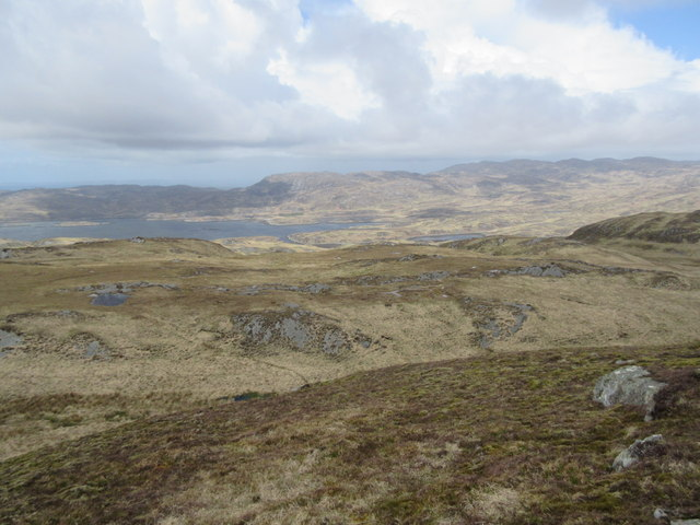 Western side of Cnoc an Ime