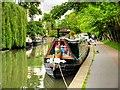 TQ2883 : Regent's Canal, Narrowboat Moored at Primrose Hill by David Dixon