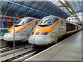 TQ3082 : Eurostars at St Pancras by David Dixon