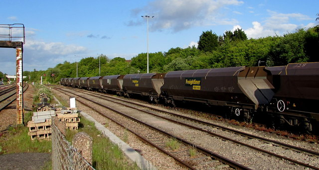 Sidings on the south side of  Bristol Parkway railway station