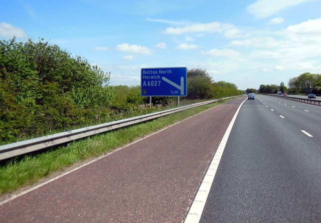 M61 southbound towards junction 6