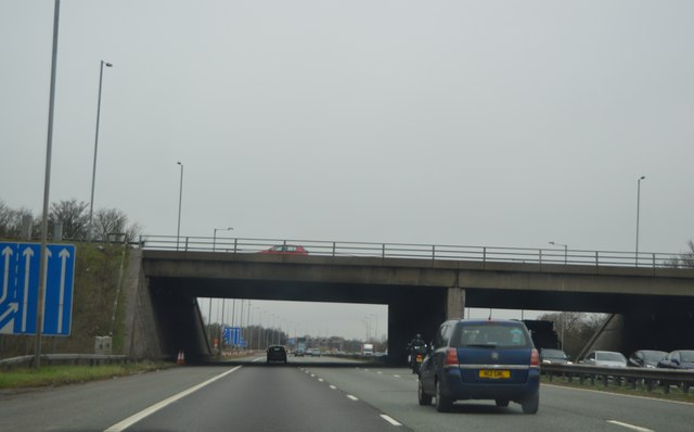 M56 overbridge at Junction 20 of the M6