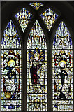 TM4077 : St Peter, Holton - Stained glass window by John Salmon
