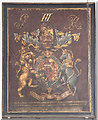TM4077 : St Peter, Holton - Royal Arms by John Salmon