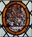 TM4383 : St John the Baptist, Shadingfield - Stained glass window by John Salmon