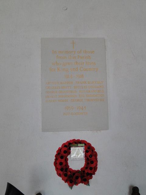 Syleham War Memorial