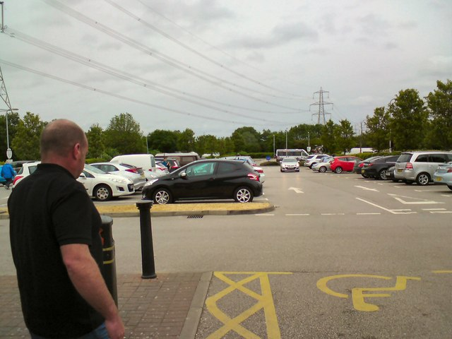 Car park at Chester Services