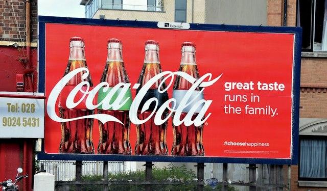 Coca-Cola poster, Belfast (June 2015)