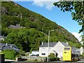 SH5540 : Bus at an eastbound stop, Tremadog by Christine Johnstone