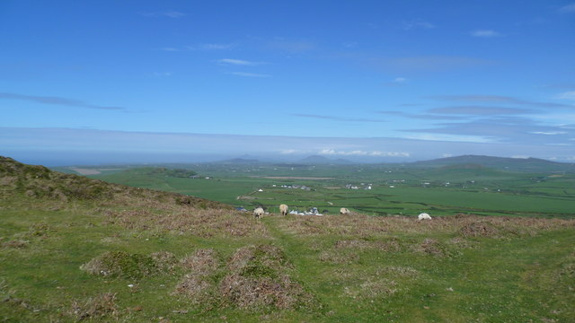 View north on the Wales Coast Path on Lleyn in May