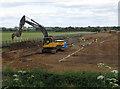 TA0430 : Lagoon digging, Willerby by Paul Harrop