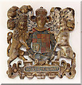 TM3787 : St Andrew, Ilketshall St Andrew - Royal Arms by John Salmon