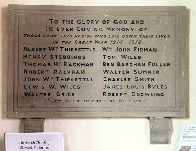 St Andrew, Ilketshall St Andrew - War Memorial WWI