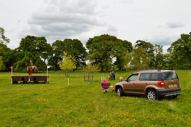 Brand Hall Horse Trials: cross-country obstacles: Mellards Tubs