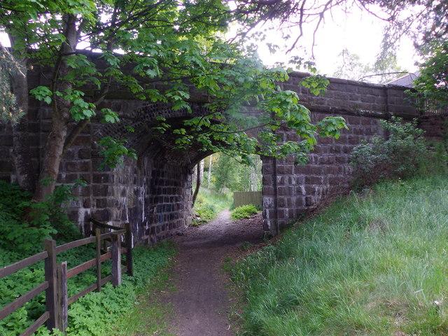 Footpath under the old North Deeside Road in Aboyne