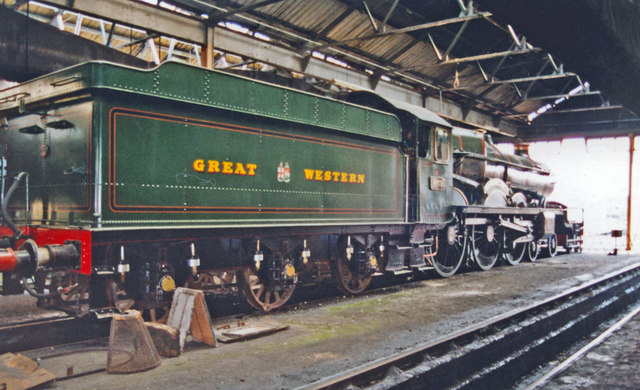 'Caerphilly Castle' inside at the Didcot Railway Centre, 2001