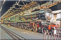 SU5290 : 'Caerphilly Castle' inside the Shed at Didcot Railway Centre, 2001 by Ben Brooksbank