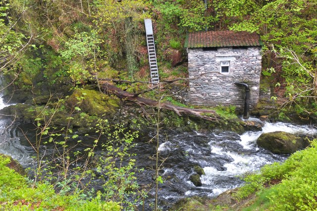 Hydroelectric plant at Colwith Force