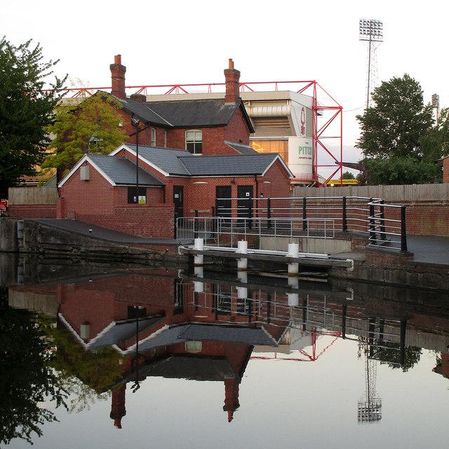 Reflections near Meadow Lane Lock