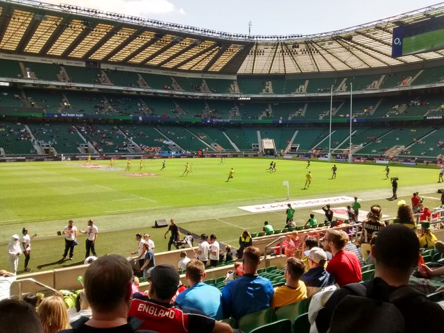 Twickenham Stadium during the London... © Keith Williams cc-by-sa/2.0 ::  Geograph Britain and Ireland