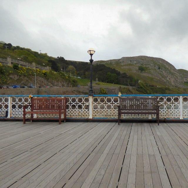 Memorial Benches on Llandudno Pier