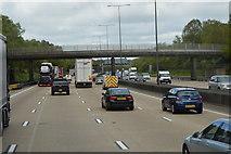 TQ2352 : Footbridge over the M25 by N Chadwick