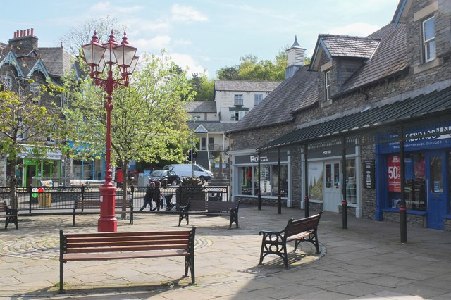 Market Cross shopping area, Ambleside