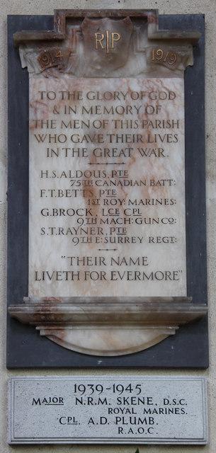 St George, St Cross South Elmham - War Memorial WWI & WWII