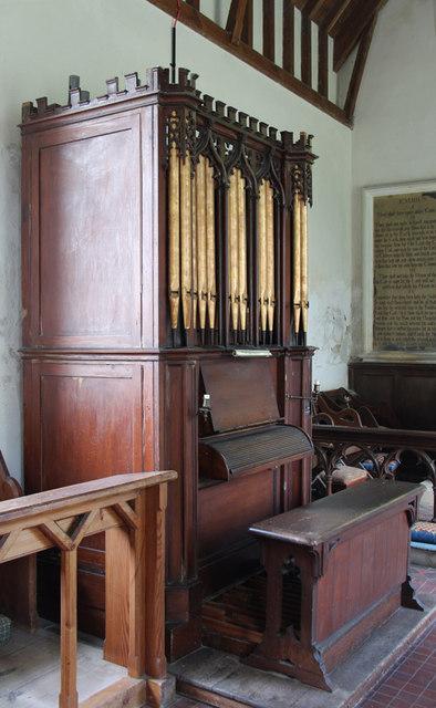 St Mary Homersfield - Organ