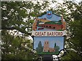 TL1351 : Great Barford village sign by Bikeboy