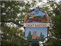 TL1351 : Great Barford village sign by Bikeboy