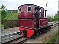 SH5739 : Gertrude running round at Pen y Mount Station by Christine Johnstone