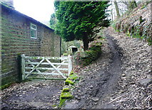 SE0722 : Junction of Sowerby Bridge FP85 with Dye House lane (11), Norland by Humphrey Bolton