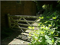 SE0722 : Gate at the end of Sowerby bridge FP85, Norland by Humphrey Bolton