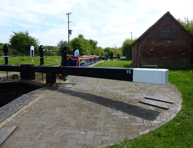Napton Lock No 15 on the Oxford Canal