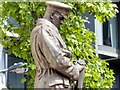 TQ2982 : Euston Station War Memorial (detail) by David Dixon