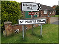 TM0956 : St.Marys Road sign by Adrian Cable