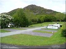 SH5638 : Empty pitches at Tyddyn Llwyn by Christine Johnstone
