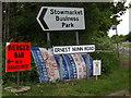 TM0657 : Ernest Nunn & Stowmarket BusinessPark signs by Geographer