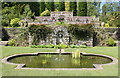 SH5269 : Pond and fountain at Plas Newydd by Jeff Buck