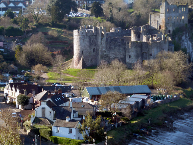 Chepstow Castle from Tutshill