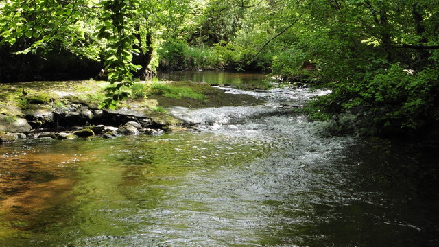 Weir on the River Bovey, Parke Estate, Bovey Tracey