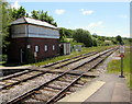 SY5997 : Disused signalbox at Maiden Newton railway station by Jaggery