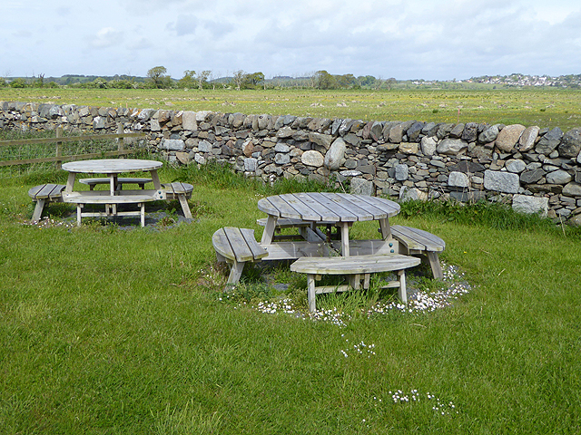 Picnic tables at the Crook of Baldoon RSPB reserve