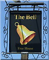TL2063 : Sign for The Bell, Great Paxton by JThomas