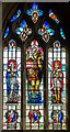 TF1340 : Stained glass window, St Andrew's church, Helpringham by J.Hannan-Briggs
