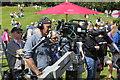 SH5269 : BBC Cameraman at Plas Newydd by Jeff Buck